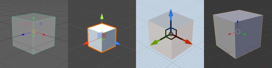 Translate, Rotate, and Scale Manipulators in 3D Modelling